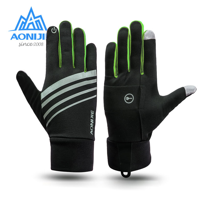 AONIJIE Winter Unisex Sport Touchscreen Winddicht Thermische Fleece Handschuhe Laufen Jogging Wandern Radfahren Skifahren Fahrrad image