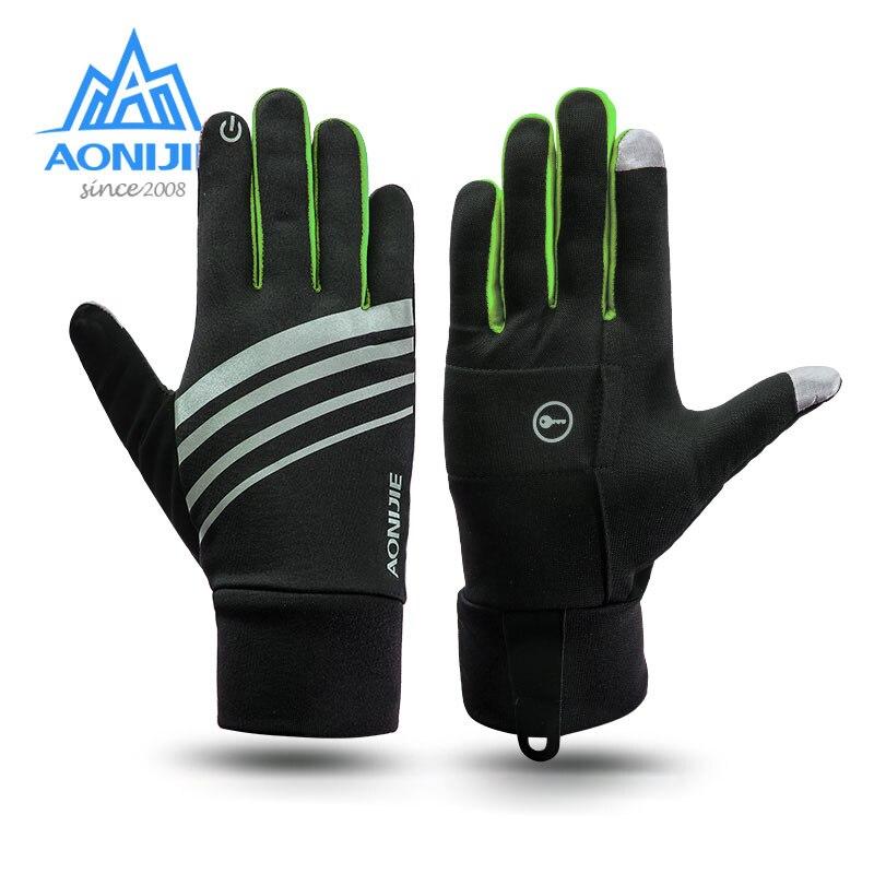 AONIJIE invierno Unisex deportes pantalla táctil a prueba de viento polar guantes Running Jogging senderismo ciclismo esquí bicicleta