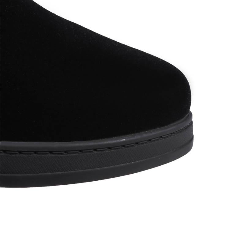 Neige Zipper Mode Grande Taille 34 45 Chaud Bottes Simple Bout Haute Garder Hiver Noir Morazora Chaussures Femmes Au Femme Genou 2018 Rond rxeCBWdo