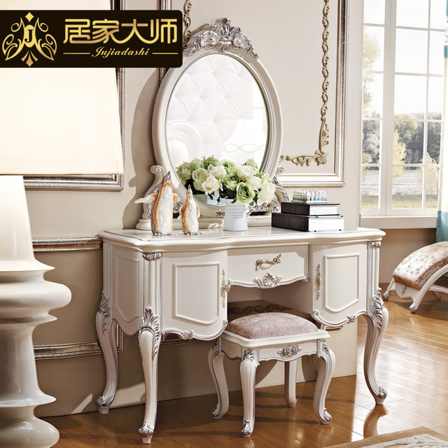 New French Clical Bedroom Furniture S Dresser Mirror White Dressing Tables Luxury With Solid Wood