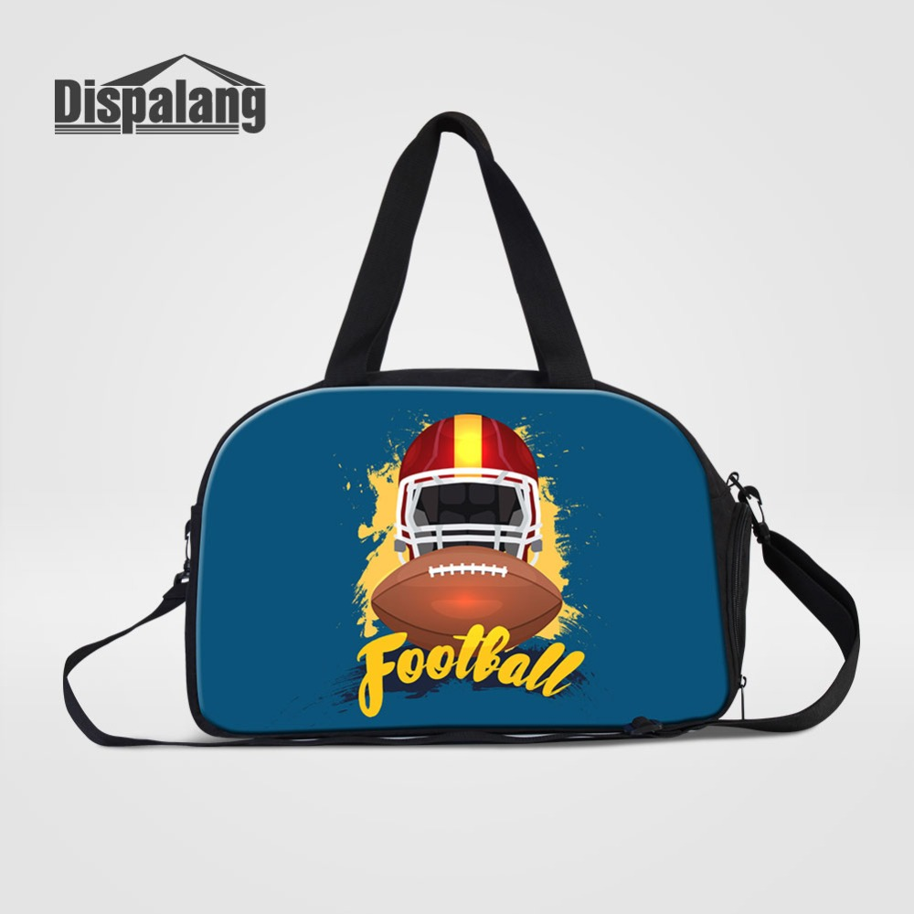 High Quality Cotton Fabric Travel Bags For Men Rugbyball Footballs Hand Luggage Bag Cust ...