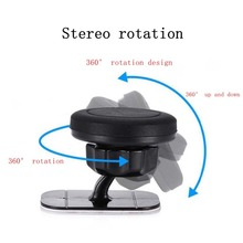 цена на 360 Degree Magnet Car Phone Holder Rotation Long Arm Windshield Mount Bracket Stand with Suction Cup adjustable holder