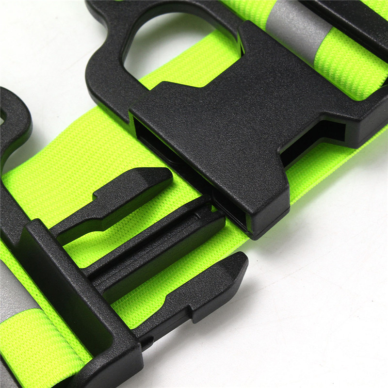 Wholesale 10 Pcs Fluorescent Warning USB Charging Chest Lamp LED Straps Lights Reflective Vest Safety Cycling Running Clothing