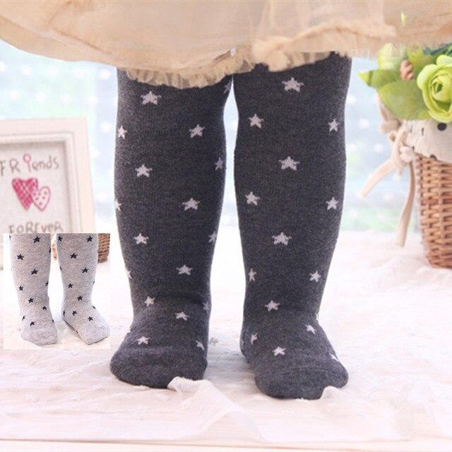 324d8b9c2 Primavera   outono novo bebê infantil projeto da estrela meias de algodão  meia calça infantil moda