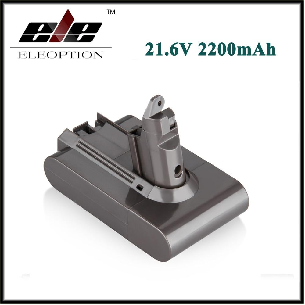 Alta Qualidade Eleoption 21.6 V 2200 mAh Substituição Bateria Li-ion Battery para Bateria Dyson DC58 DC59 DC61 DC62 Aspirador de pó 965874-02