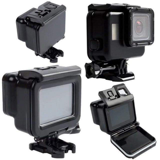 For Go Pro Hero5 45M Black Waterproof Housing Case Touch Screen Back Door For Gopro Hero 5 Underwater Box Camera Accessories