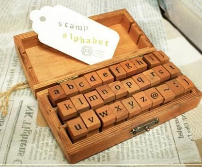 4Set 30pcs/set Lowercase Uppercase Alphabet rubber stamps With Wooden box Decorative Scrapbooking Stamp DIY  Free shipping wholesale hot sale 30pcs set letter wood stamp alphabet stamps wooden box personalized motto handmade hobby sets free shipping