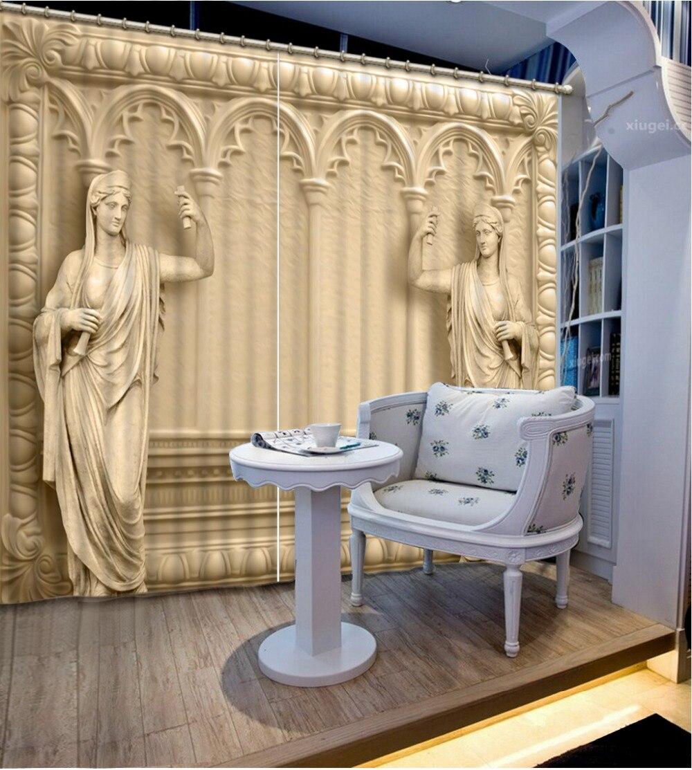 Blackout 3D Rideaux Moderne Rideau Pour salon Chambre, hôtel Personnalisé Photo Impression peuple romain Décoration de La Maison