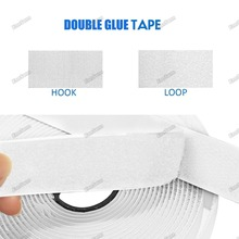 цена на 10M*2 Hook and Loop Fastener Tape, Self Adhesive Sticky Tape, Heavy Duty Hook Loop Tape Reusable Double Sided Sticky Tape 20