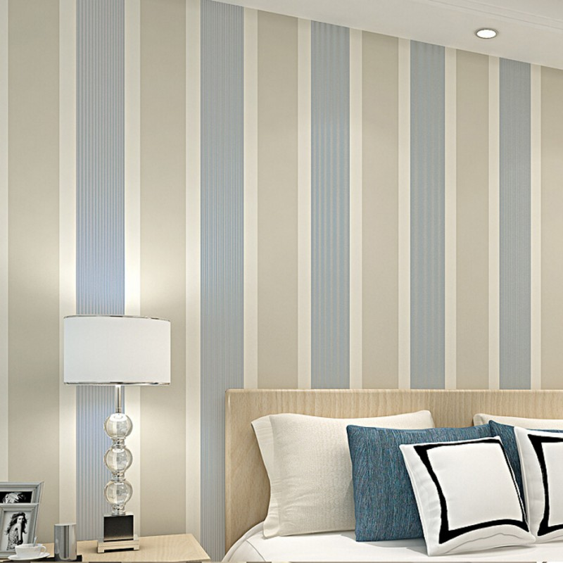 Beibehang Modern home decoration 3D wallpaper bedroom living room TV background wall striped striped paper rolls 3d wallpaper beibehang non woven pink love printed wallpaper roll striped design wall paper for kid room girls minimalist home decoration