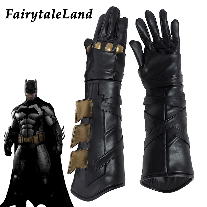 Batman Cosplay Accessory Superhero cosplay Batman gloves Fancy leather cosplay gloves Justice League Batman cosplay accessories