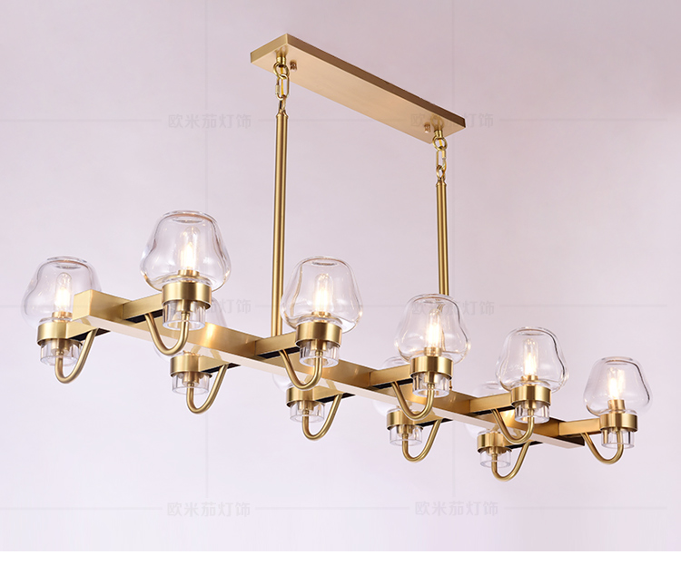 Postmodern light luxury copper chandelier living room dining room bedroom glass chandelier project hotel stairwell chandelierPostmodern light luxury copper chandelier living room dining room bedroom glass chandelier project hotel stairwell chandelier