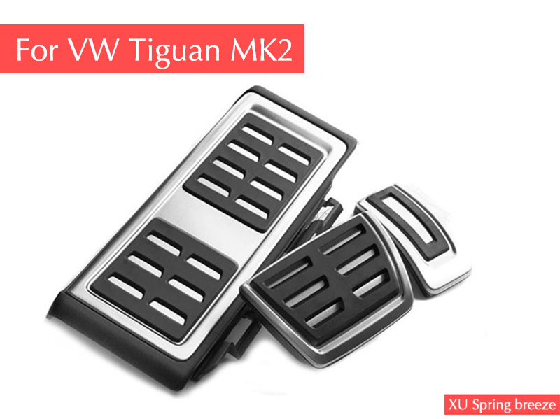 For VW Tiguan MK2 2016 2017 2018 AT MT Refit Accelerator Pedal Plate Clutch Throttle Brake Foot Pedal Treadle Car Styling litanglee car accelerator pedal pad cover racing sport for mini cooper clubman r55 f54 2007 onwork at foot throttle pedal cover