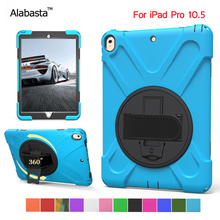 Alabasta for Apple ipad pro 10.5 case New Armor Kids Safe Cover Silicone with PC Hand holder Shockproof Stand Shield With stylus