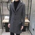 2017 nuevos hombres del otoño del resorte elegante de lana blends peacoat hombres caliente larga gabardina de lana de los hombres abrigo Plus tamaño 4XL 5XL