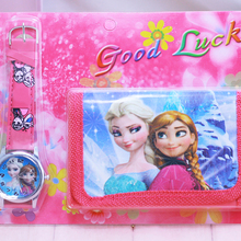 Fashion cartoon watch anna elsa kids watch