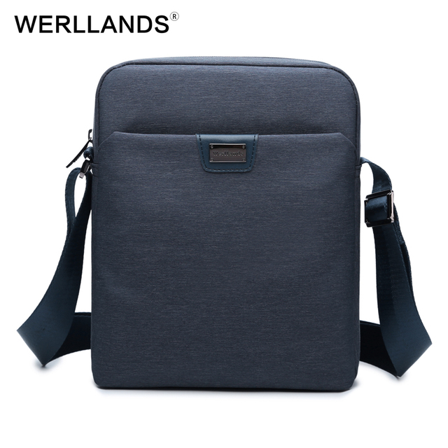 eb68fa7dd46a WERLLANDS Men Brand Leather Shoulder Bag and Purse Male Casual Business  Satchel Messenger Bag Vintage Men s