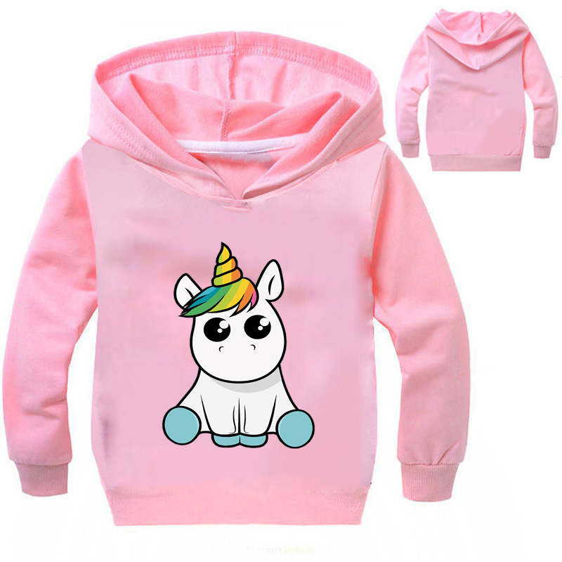 Baby Girl Clothes Girls Hoodies Spring Jacket Girls Unicorn Coat Lovely And Comfortable Girl Clothes 2-10 Years Kids Sweatshirt