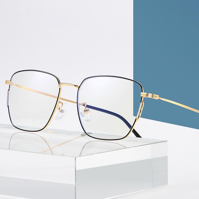 Metal Blue Light Blocking Glasses Men Women Mobile Computer Anti-blue Light Glasses Competitive Game Radiation Protection Goggle