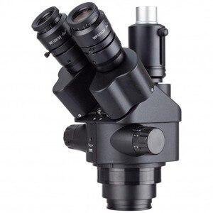 Image 1 - AmScope 7X 45X Schwarz Simul Brenn Trinocular Zoom Stereo Mikroskop Kopf handy reparatur ausrüstung