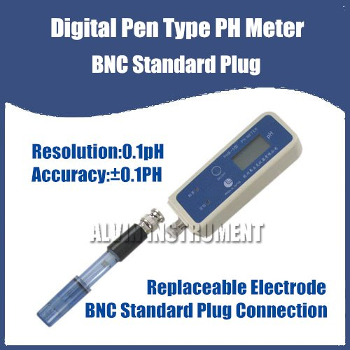 Free Shipping Digital Pen Type PH Meter Tester Portable Poket Type BNC Standard Plug Accuracy +-0.1pH free shipping ph stick ph meter ph pen tester pen type range 2 1 10 8ph waterproof atc accuracy 0 1ph