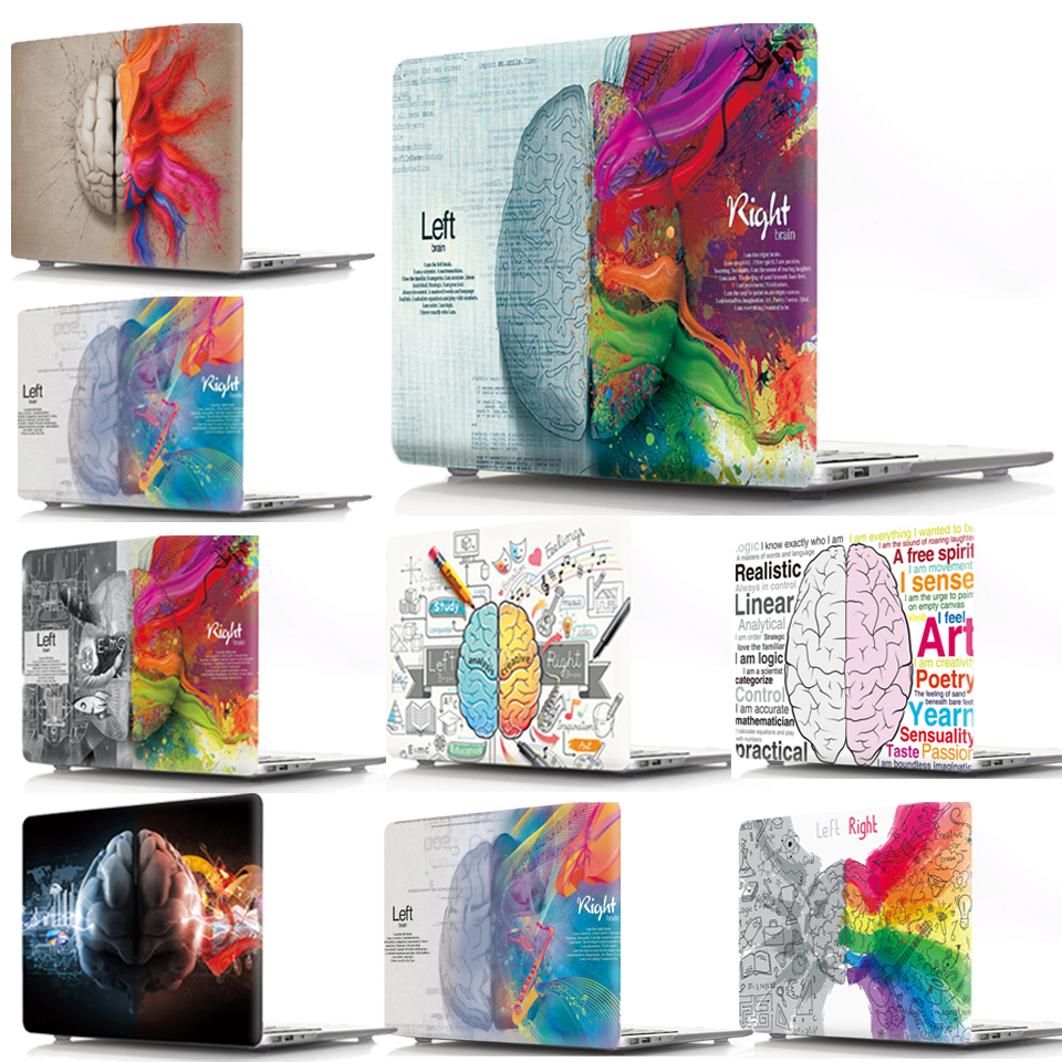 New Printed For Macbook Retina 12 13 15 Laptop Cover A1534 A1425 A398 Cartoon Brain Case For Macbook Pro 13 15 Retina Case