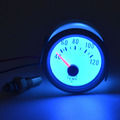 52mm White shell Blue backlight car motorcycle Refit meter Water temperature gauge 40-120 Celsius Auto Gauge  With sensor