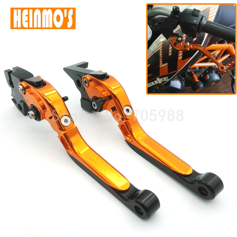 New Motorcycle CNC Long Mixed Colors Regular Brake Clutch Levers For KTM Duke 125 200 390 RC 125 200 390 Motorbike Brake cnc adjustable clutch brake levers set short long 2 style 10 colors fit for kymco downtown 125 200 300 350