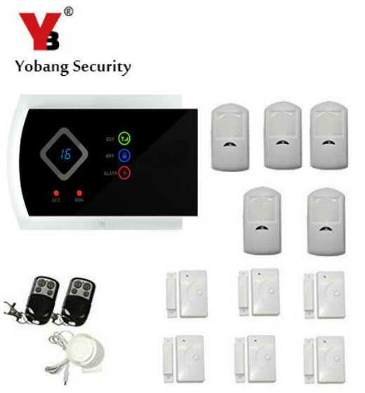 YobangSecurity IOS Android APP English Russian Spanish Italian Slovak Security System GSM SMS Wireless Anti-theft Alarm Voice hzsecurity electromagnetic system em library anti theft system one aisle