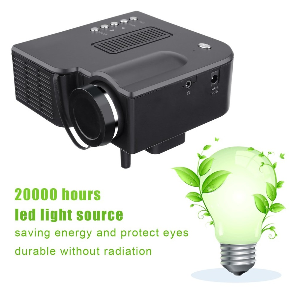 YG300 Professional Mini Projector Full HD1080P Home Theater LED Projector LCD Video Media Player Projector Yellow & WhiteYG300 Professional Mini Projector Full HD1080P Home Theater LED Projector LCD Video Media Player Projector Yellow & White