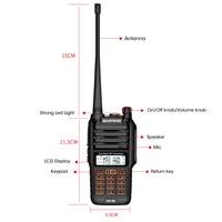 """מכשיר הקשר dual band Baofeng BF-UV9R מכשיר הקשר IP67 Waterproof 8W מתח 10 ק""""מ ארוך טווח שני הדרך רדיו Dual Band VHF / UHF FM משדר CB רדיו (5)"""
