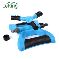 Trident Fork Arm Type Garden Lawn Water Saving Nozzle 360 Degrees Automatic Rotating Adjustable Nozzle Garden