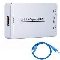 Портативный USB 3,0 Capture HD к USB3.0 захвата видео ключ HD 1080 P HD Drive бесплатная высококлассной AV устройства захвата для PS3 XBox