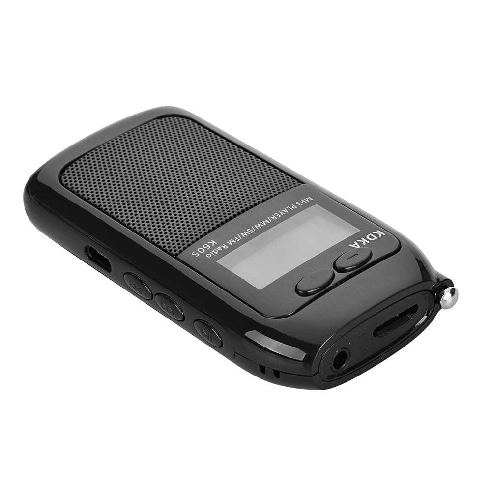 Mini Draagbare LCD Display Pocket Radio Fm Am Sw Mw Digitale Tuning Radio Ontvanger HIFI Sound Mp3 Muziekspeler Video met Oortelefoon