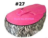 ZEBRA hotsell baby bean bag chair, waterproof kids deep sleep bean bag sofa seat child snuggle pods free shipping