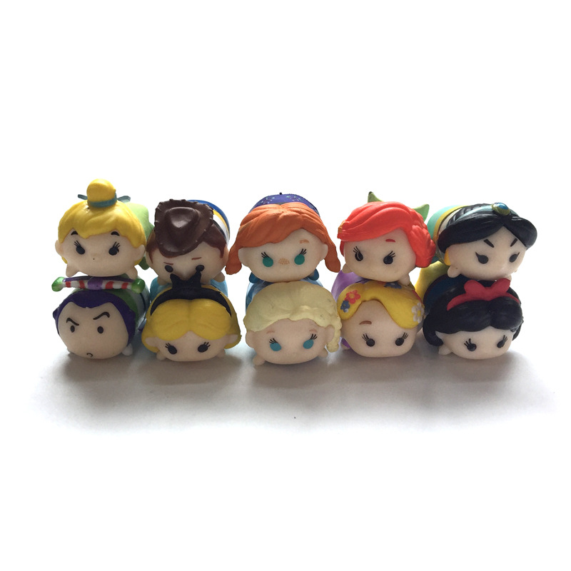 1Tsum Tsum Mini Action Figure Figurine Elsa Anna Princess Statue Snow White Cinderella For Brinquedos Gift Collectible Toys