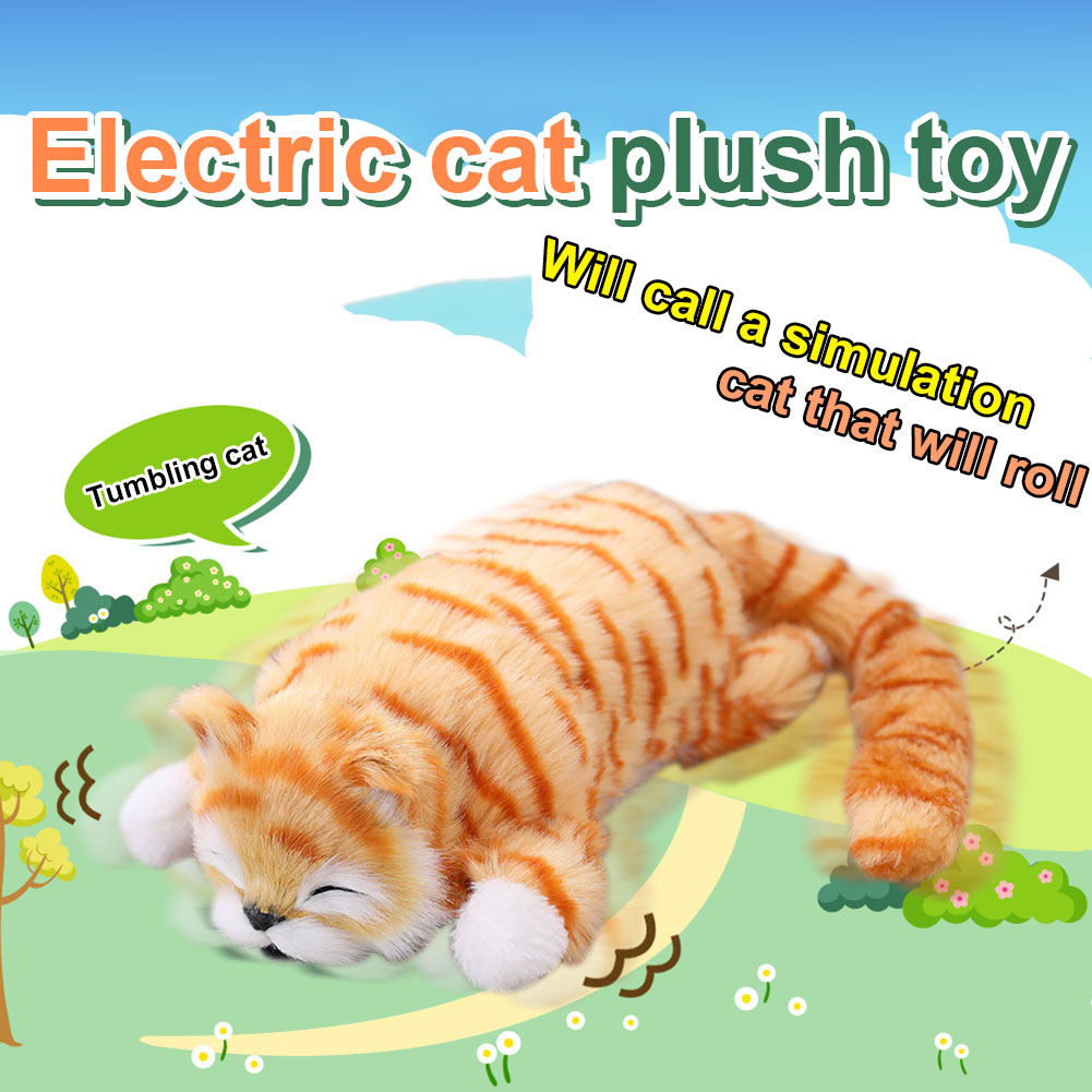 Hot Selling 1PC 30cm Funny Simulation Cat Plush Toys Free Roll Laugh Children Cute Electric Cat Dolls Plush Toy Kids Toys GiftsHot Selling 1PC 30cm Funny Simulation Cat Plush Toys Free Roll Laugh Children Cute Electric Cat Dolls Plush Toy Kids Toys Gifts