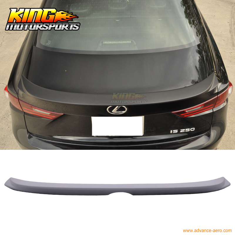 ФОТО For 14-16 IS250 IS350 IS300 OE Style F-Sport Trunk Spoiler Painted Matte Black PU