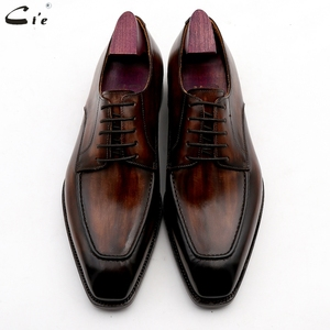 Image 5 - cie men dress shoes leather patina brown men office shoe genuine calf leather outsole men suits formal leather handmade No.7
