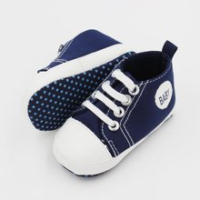 Sumemr Newborn Canvas Classic Sports Sneakers Baby Boys Girls First Walkers Shoes Infant Toddler Soft Sole Anti-slip Baby Shoes