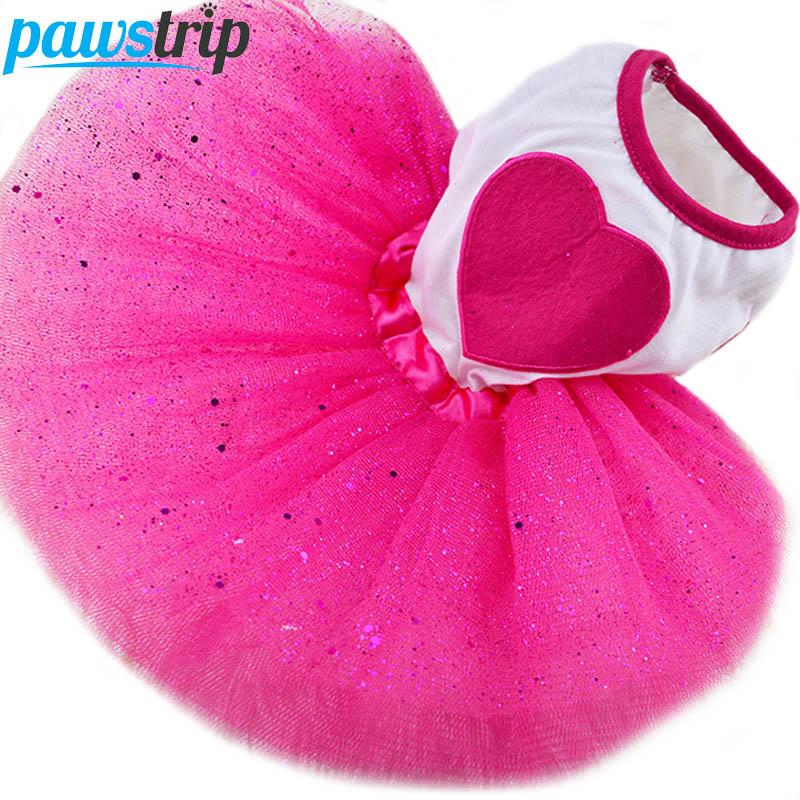 Aranyos szív kutya ruha nyári kiskutya ruhák hercegnő kutya Tutu - Pet termékek