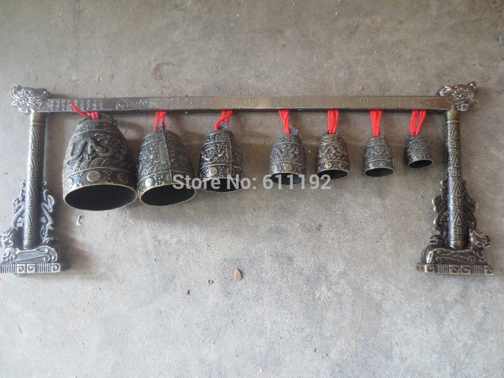 Exquisite private collection of Chinese antique bronze bells Hand carved dragon bell 15 Inch length|belle sun|bell photographers|bell electric - title=