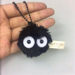 Image 4 - Plush Toys Spirited Away Totoro Small Pendant Plush Toy Black Carbon Coal Ball Dust Elf Doll