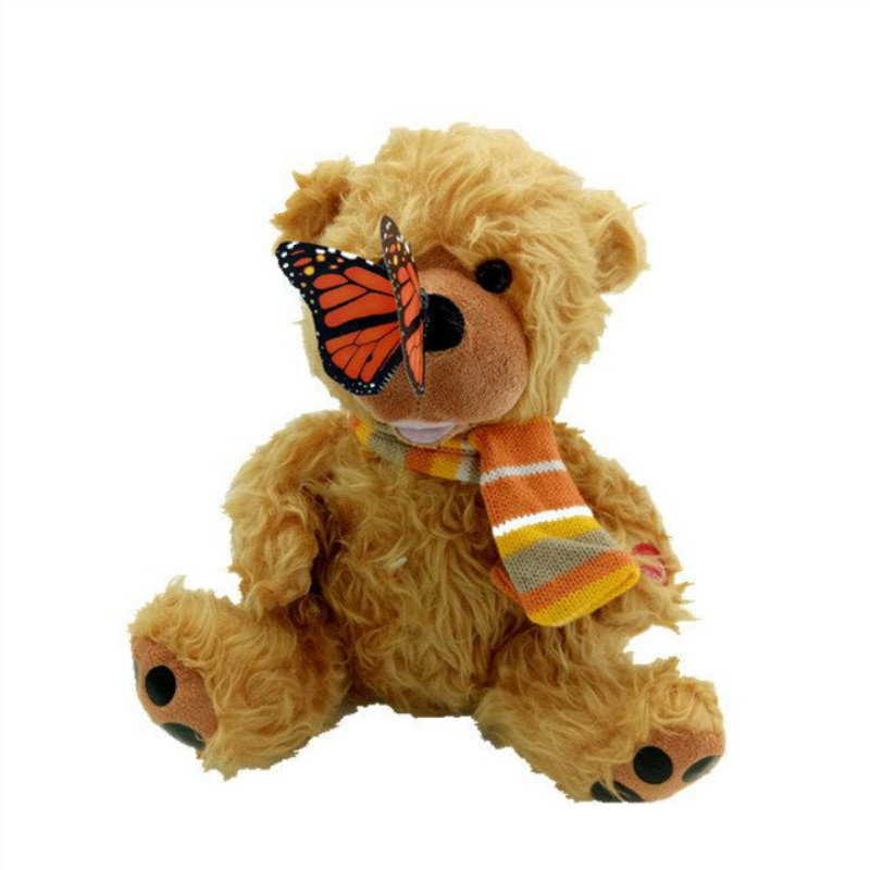 Electric butterfly teddy bear doll Best Early Educational Toy Stuffed Electric Pets bear toy for kids