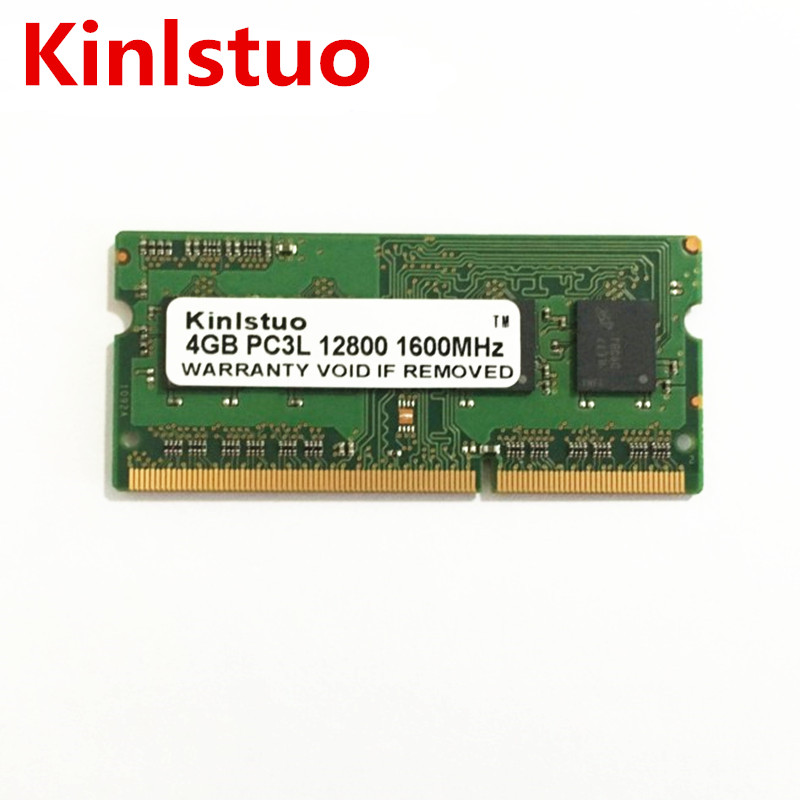 Tout nouveau 4 GB DDR3 1600 Mhz ordinateur portable mémoire RAM PC3L-12800S 4 GB 1RX8/2RX8 basse tension 204 broches SODIMM