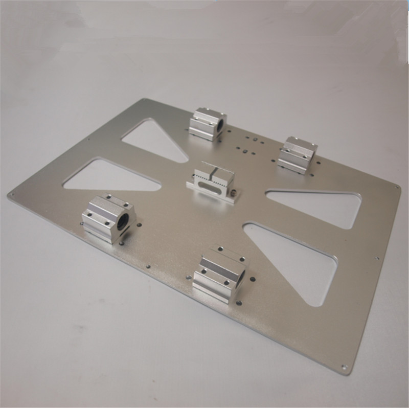 A Funssor 200x300mm Aluminum alloy XL Y Carriage Plate LM8UU block for Prusa i3 RepRap 3D Printer Upgrade kit Fast ship