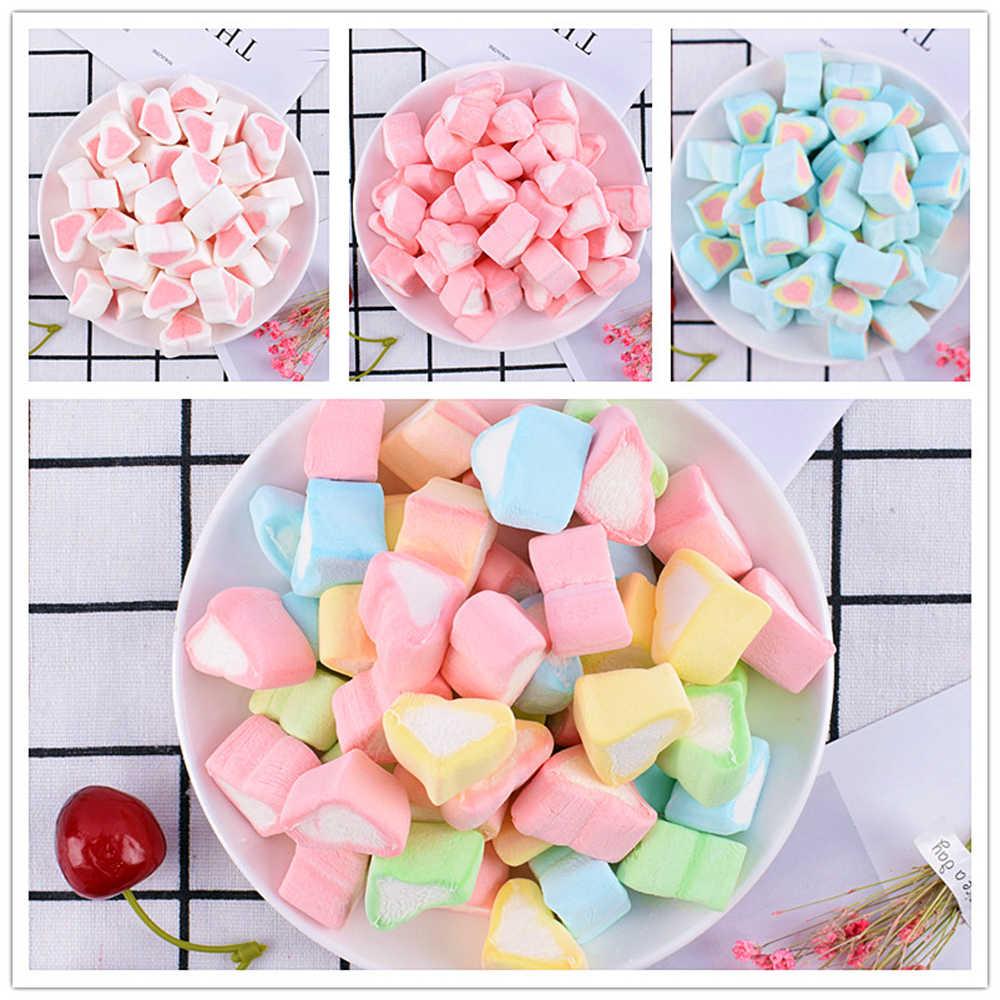 5Pcs/Lot Mini Cotton Candy Slime DIY Accessories Toy Slime Supplies Filler Addition For Clear Fluffy Slime Gift Toy for Children