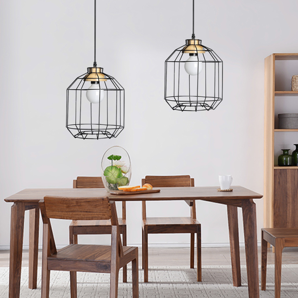 industrial loft lighting. Vintage Bird Cage Black Iron Pendant Lights E27 Industrial Loft Lamps Bar Decoration Lighting Fixtures Free Shipping-in From
