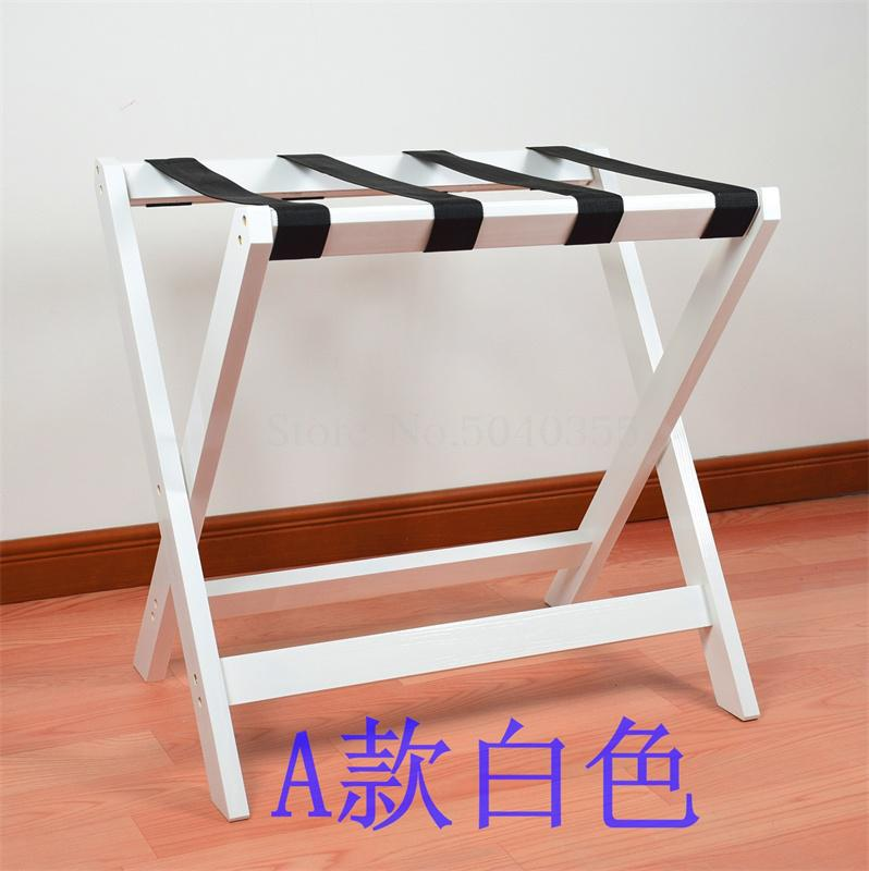 Solid wood luggage rack hotel floor folding racks home bedroom put sleep clothes simple shelves - Цвет: VIP 5