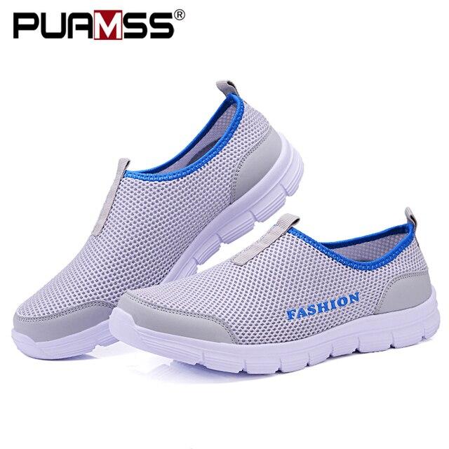 Verão nova mulher sandálias de malha de ar sapatos casuais leves respirável água deslizamento-em sapatos femininos tênis sandalias mujer 1